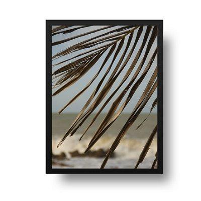Quadro Fotografia Folhas e Mar - Pipa - Rio Grande do Norte