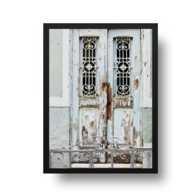 Quadro Poster Decorativo Foto Porta - Retratos, Cidade Antiga