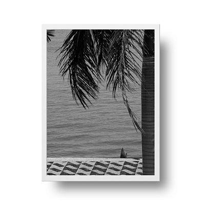 Quadro Fotografia Coqueiro - Calçadão de Niterói