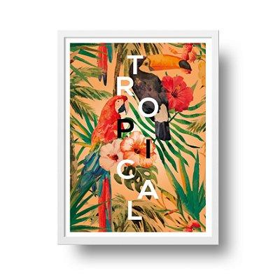 Ponta de Estoque - Poster Floral - Tropical - 1 unidade disponível