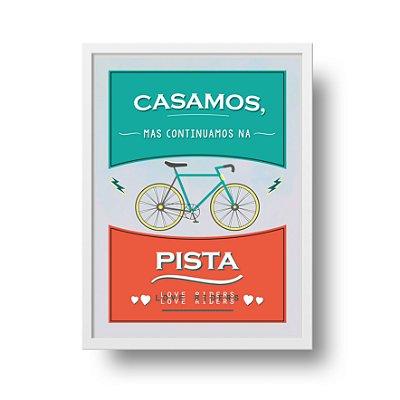 Ponta de Estoque - Poster Casamento - Bicicleta - 2 unidades disponíveis