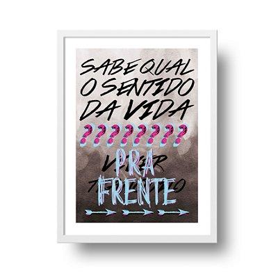 Ponta de Estoque - Poster Motivacional - Qual o Sentido da Vida - 1 unidade disponível