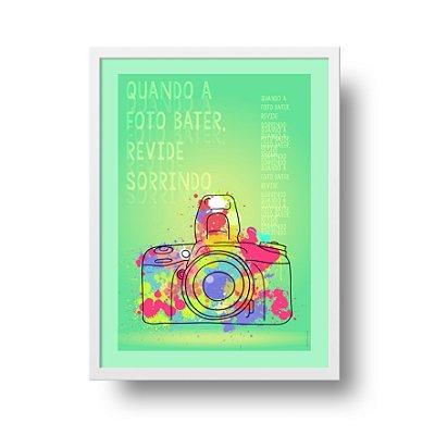 Ponta de Estoque - Poster Foto - Quando a Foto Bater Revide Sorrindo - 3 unidades disponíveis