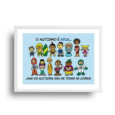 Poster Humor Azul - Todas as Cores - tamanho 20 x 25