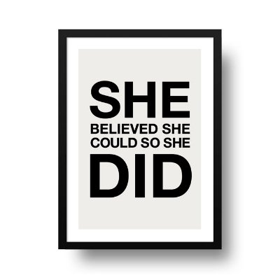 Poster Personalizado - She believed
