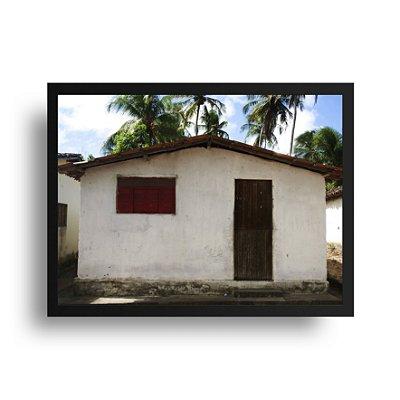 Quadro Poster Decorativo Foto Casinha - Casa, Nordeste, Rio Grande do Norte