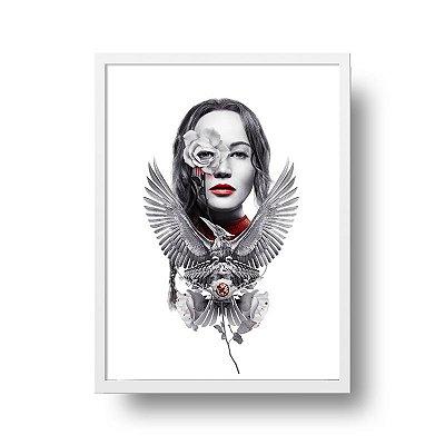 Quadro Poster Decorativo Filme Jogos Vorazes A Esperança Parte 2 - Katniss