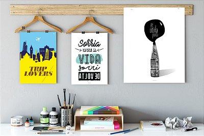 Kit de Posters Decorativos - Office
