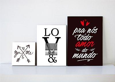 Conjunto de Placas Decorativas - Nosso Amor