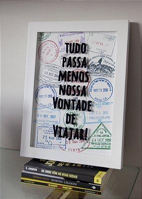 Quadro Porta-Moedas + Poster Grátis Trip Lovers
