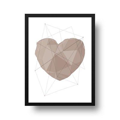 Poster Geométrico - Coração