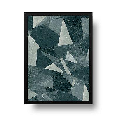 Quadro Poster Decorativo Geométrico Concreto - Triângulos, Abstrato
