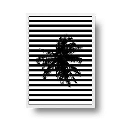 Quadro Poster Decorativo Geométrico Coqueiro - Abstrato, Listrado, Minimalista