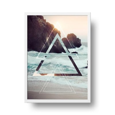 Poster Geométrico - Praia