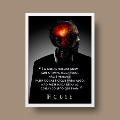 Poster Personalizado - Dr. House