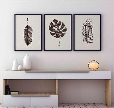 Conjunto Botanical - 3 folhas