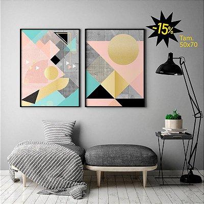 Conjunto de Poters Lines And Layers - Peixe e O Sol