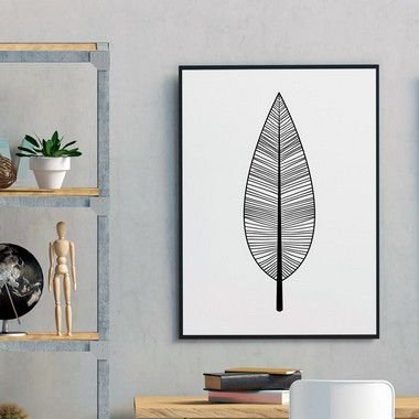 Quadro Poster Botanical Folha Boho