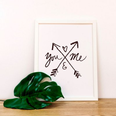 Quadro Poster Amor - You and Me