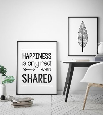 Quadro Poster Into The Wild - Happiness Shared