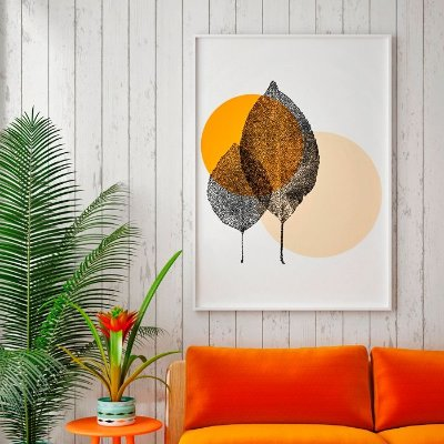 Quadro Poster Botanical - Duas Folhinhas