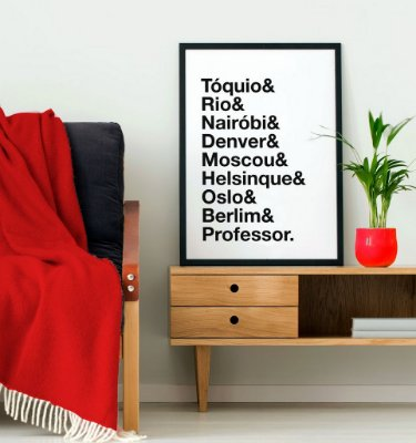 Quadro Poster Decorativo Série Netflix Nomes Casa de Papel - TV, Minimalista