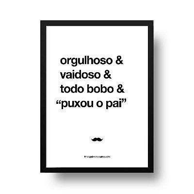 Quadro Poster Decorativo Para Pai Orgulhoso - Palavras, Homenagem, Pais
