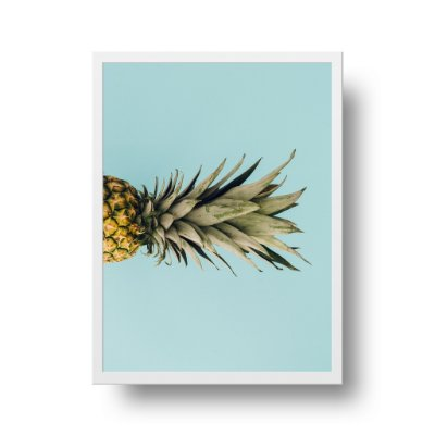 Quadro Poster Tropical - 1/2 Abacaxi
