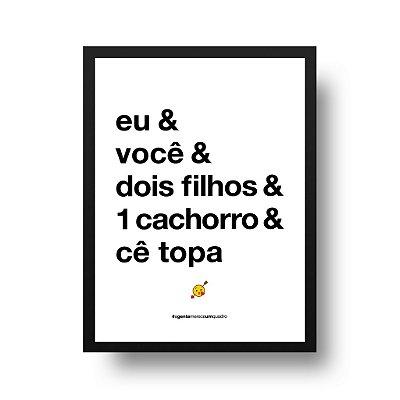 Quadro Poster Decorativo Eu e Você - Frase, Amor, Namorados, Casal