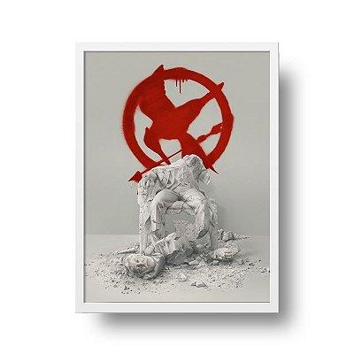 Quadro Decorativo Poster Filme Jogos Vorazes A Esperança Parte 2 - Tordo