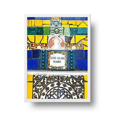 Quadro Poster Decorativo Foto Arte Na Escadaria Selarón - Lapa, Santa Teresa