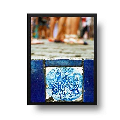 Quadro Decorativo Poster Foto Escadaria Selarón - Rio de Janeiro, Lapa, Santa Teresa