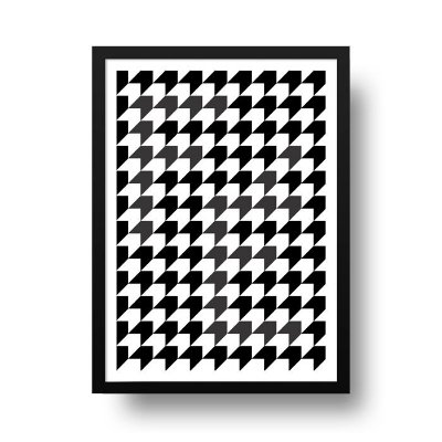 Quadro Decorativo Poster Geométrico Fé - Abstrato, Setas, Preto, Branco
