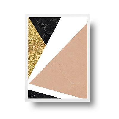 Quadro Poster Decorativo Geométrico Marble Shine - Abstrato, Mármore, Cores