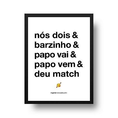 Quadro Poster Decorativo Nós Dois - Frase, Amor, Namorados, Casal