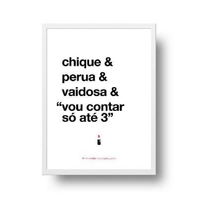 Quadro Poster Decorativo Para Mãe Chique - Palavras, Homenagem, Mães