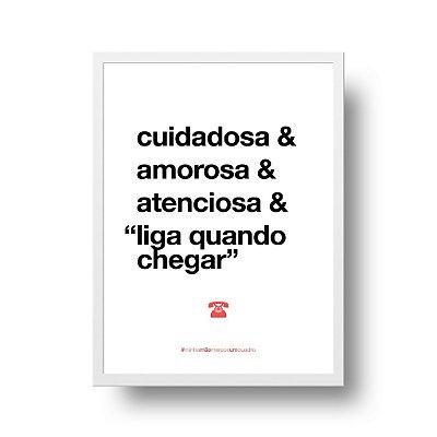 Quadro Decorativo Poster Para Mãe Cuidadosa - Palavras, Homenagem, Mães