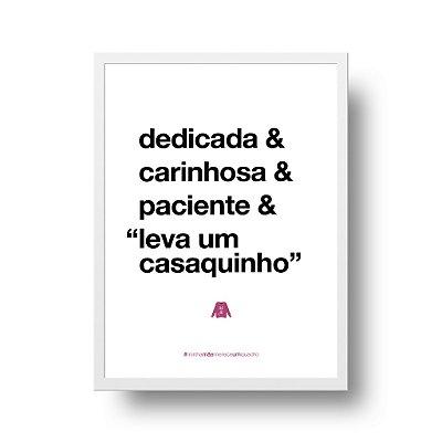 Quadro Poster Decorativo Para Mãe Dedicada - Palavras, Homenagem, Mães