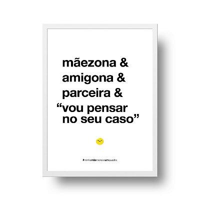 Quadro Poster Decorativo Para Mãe Mãezona - Palavras, Homenagem, Mães