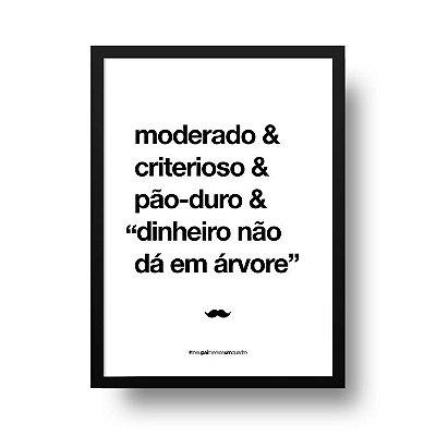 Quadro Poster Decorativo Para Pai Moderado - Palavras, Homenagem, Pais