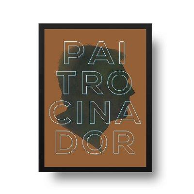 Quadro Decorativo Poster Para Pai Paitrocinador - Palavras, Homenagem, Pais