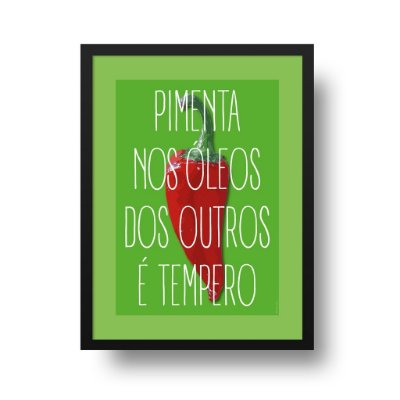Quadro Poster Decorativo Pimenta - Frase, Divertido, Tempero, Cozinha