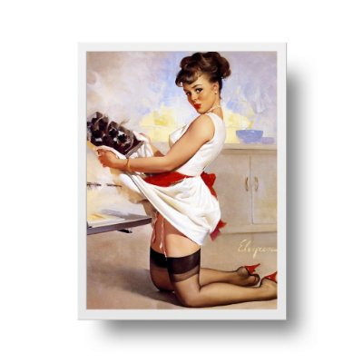 Quadro Decorativo Poster Pin Up Girl Honey Dinner Ready - Vintage