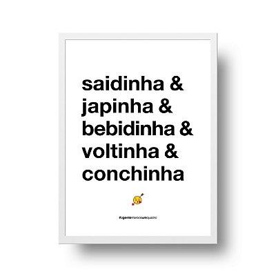 Quadro Poster Decorativo Saidinha - Frase, Amor, Namorados, Casal