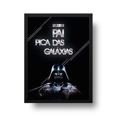Quadro Poster Decorativo Star Wars Darth Vader Braços Cruzados - Frase, Para Pais