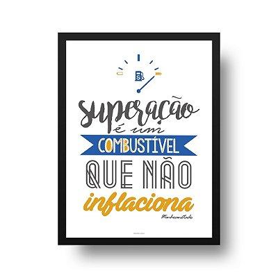 Quadro Decorativo Poster Superação - Inspirador, Frase, Motivacional