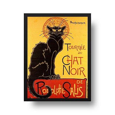 Quadro Decorativo Poster Tournée du Chat Noir - Gato Preto, Vintage