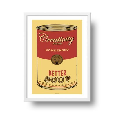 Quadro Poster Pop Art - Creativity Soup