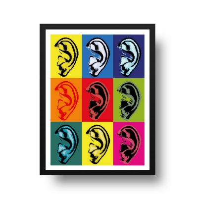 Quadro Poster Pop Art - Parede Tem Ouvidos