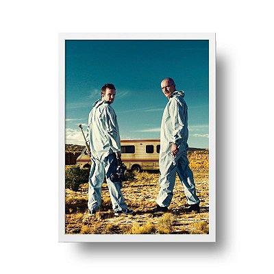 Quadro Poster Série - Breaking Bad - Walt & Jessie
